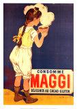 Consommé Maggi déjeuner au cacao et gluten Affiches par Firmin Etienne Bouisset