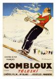 Combloux Teleski Prints by  Ordner