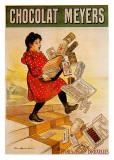 Meyers-Schokolade Poster von Firmin Etienne Bouisset