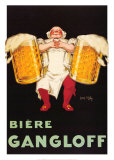 Bier &quot;Gangloff&quot; Poster von Jean D&#39; Ylen