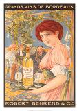 Grands vins de Bordeaux Affiche
