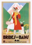 Brides Les Bains Poster di Leon Benigni