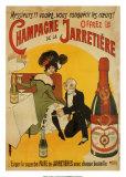Champagne De La Jarretiere Kunstdrucke