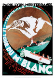 Tour Du Mt Blanc Print by Roger Broders