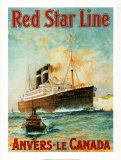 Red Star Line, Anvers to Canada Prints