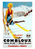 Teleski Combloux Print by Ordner 