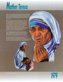 Nobel Peace Prize Winners, 1979 - Mother Teresa Poster
