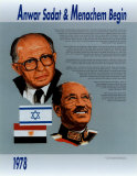 Anwar Sadat & Menachem Begin Prints