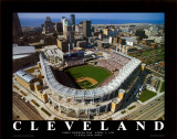 Jacobs Field - Cleveland, Ohio Poster by Mike Smith