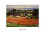 Vallmofält Planscher av Claude Monet