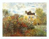 O jardim do artista em Argenteuil Posters por Claude Monet