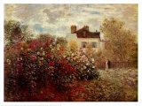 Taiteilijan puutarha Argenteuilissa (The Artist's Garden at Argenteuil) Posters tekijänä Claude Monet
