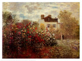 The Artist&#39;s Garden at Argenteuil Prints by Claude Monet