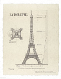 Tour Eiffel Posters by Yves Poinsot