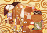 Fulfillment, Stoclet Frieze, c.1909 (detail) Affischer av Gustav Klimt