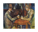The Card Players, 1890-92 Poster tekijn Paul Czanne