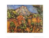 Mont Sainte Victoire Posters by Paul Cézanne
