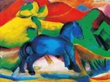 Blaues Pferdchen Kunstdrucke von Franz Marc