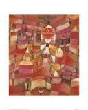 Le jardin de roses Impression giclée par Paul Klee