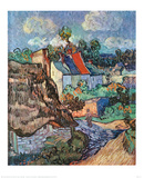 Maisons &#224; Auvers Affiches par Vincent van Gogh
