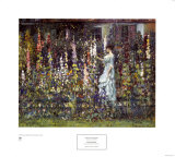 Hollyhocks Prints by Frederick Carl Frieseke