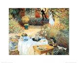 Das Mittagsmahl Kunstdrucke von Claude Monet