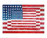 Tre flagg, 1958 Poster av Jasper Johns