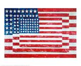Three Flags, 1958 Print van Jasper Johns