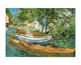 Boats to Rent Print by Vincent van Gogh
