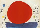 Den røde solen Posters av Joan Miró