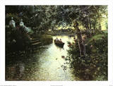 River Landscape Posters by Manuel Garcia Y Rodriguez