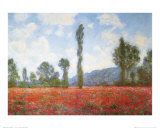 Field of Poppies Affiches par Claude Monet