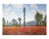 Valmuemark Plakater af Claude Monet