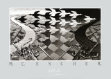 Day and Night Posters by M. C. Escher