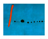Blå II, ca 1961 Posters av Joan Miró