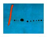 Blu II, 1961 circa Poster di Joan Miró