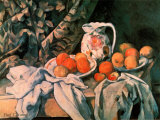 Still Life with Apples Láminas por Paul Cézanne
