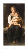 Two Sisters Poster by William Adolphe Bouguereau