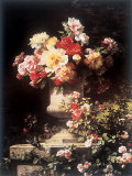Peonies and Roses Prints by Louis-Marie Lemaire