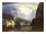 Sierra Nevada i Californien Posters af Albert Bierstadt