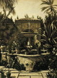 Courtyard Fountain Prints by David Parks