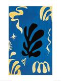 Composition Fond Bleu Plakater af Henri Matisse
