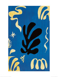 Komposition mit blauem Hintergrund Kunstdrucke von Henri Matisse