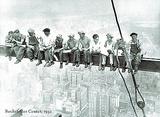Lunch Atop Skyscraper Rockefeller Center Photo Reprodukcje autor Charles C. Ebbets