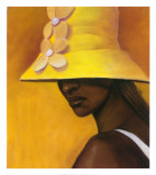 Yellow Hat Poster by Laurie Cooper