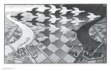 Dag en nacht Print van M. C. Escher