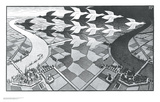 Day and Night Print by M. C. Escher