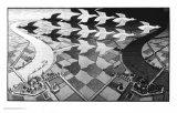 Dag en nacht Schilderijen van M. C. Escher