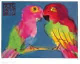 Two Parrots Plakat av Walasse Ting