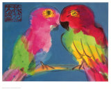 Two Parrots Poster by Walasse Ting